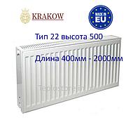 Стальной радиатор Krakow 22 тип 500*400(боковое подключение) (Польша) ОРИГИНАЛ!