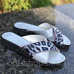 Шльопанці жіночі шкіряні на повну ногу великого розміру 36-45, шльопанці жіночі на повну ногу великого розміру