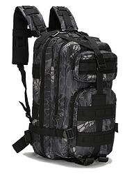 Военный рюкзак TACTICAL B02 20-25 л Серый с черным hubttBc71452, КОД: 1565186