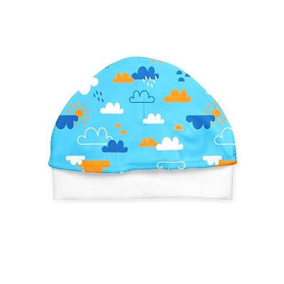 Шапочка София Blue Clouds р.40 молочный с принтом