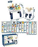 Дитячий ігровий двосторонній столик зі стільчиком, конструктором і наклейками 6872 (132 деталі), фото 2