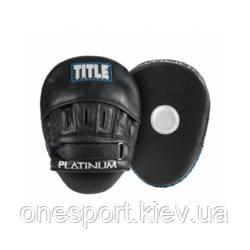 Лапы TITLE Platinum Punch Mitts 2.0 черный/серебристый + сертификат на 150 грн в подарок (код 179-528740)