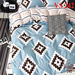 Постельное белье полуторка, сатин, Вилюта «Viluta» VS 242