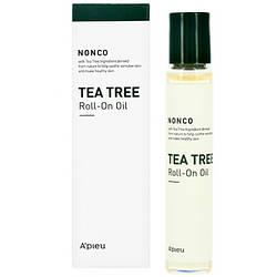 Успокаивающая сыворотка-ролик с маслом чайного дерева для проблемной кожи Apieu Nonco Tea Tree Ro, КОД: