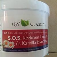 Крем для тела с мочевиной и ромашкой Uw S.O.S. Urea для очень сухой даже потрескавшейся кожи  500мл Венгрия