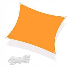 Тент-парус тіньовий для дому, саду та туризму Springos 4 x 4 м SN1027 Orange
