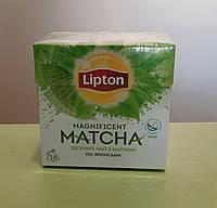 Чай Lipton Matcha 18 пірамідок зелений, фото 1