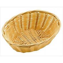 Корзина FoREST овальная светло-коричневая 18х13 см h6,5 см, Корзина для хранения хлеба. Хлебница овальная