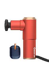 Перкуссионный массажер Booster Mini Red + кейс с насадками