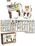 Універсальний, розбірний, двосторонній столик для малювання та гри конструктором 6873 (132 деталі), фото 2