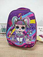 Шкільний каркасний рюкзак з лялькою LOL 25х13х31