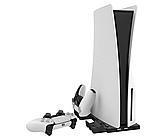 Вертикальная зарядная док-станция iPlay для Sony Playstation 5 / PS5 Digital / DualSense, фото 4