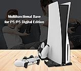 Вертикальная зарядная док-станция iPlay для Sony Playstation 5 / PS5 Digital / DualSense, фото 8