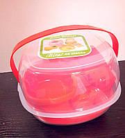 Посуд для пікніка пластикова набір на 6 персон 48 предметів