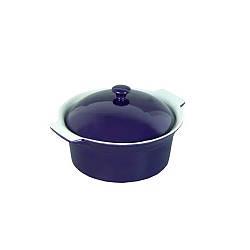 Кастрюля керамическая Kamille для запекания с крышкой 2 л (фиолетовый)