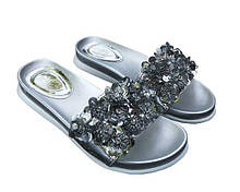 Шлепанцы Allshoes с пайетками 36 Серебристые 50968 36, КОД: 150125