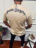 Чоловіча футболка Palm Angels бежева з ведмедем, фото 2