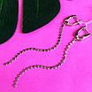 Срібні сережки ланцюжка - Довгі срібні сережки, фото 2