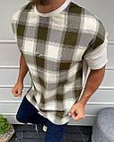Чоловіча оверсайз футболка в клітку, фото 2