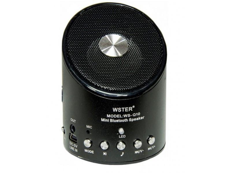 Портативна bluetooth колонка WSTER WS-A9 чорна