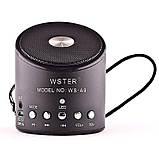 Портативна bluetooth колонка WSTER WS-A9 чорна, фото 2