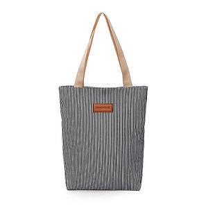 Эко сумка шоппер Холщовые женские сумки Полосатые сумки через плечо Холщовые сумки для студентов