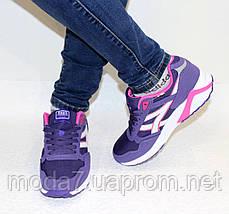 Кроссовки женские фиолетовые ASICS текстиль реплика, фото 3