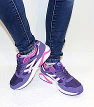 Кроссовки женские фиолетовые ASICS текстиль реплика, фото 2
