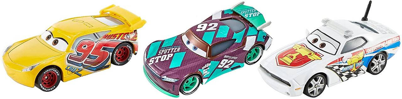 Игровой набор трех героев из мультфильма Тачки 3 (Disney Pixar Cars Die-cast 3-Pack) от Mattel, фото 2