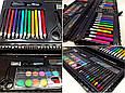 Детский подарочный набор для рисования Art set, 92 предмета (чёрный футляр), все для творчества (GK), фото 6