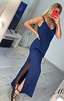 Плаття довге з розрізом 46181