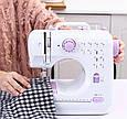 Електрична побутова швейна машинка для будинку UFR-705 на батарейках і від мережі (швейна машинка), фото 7