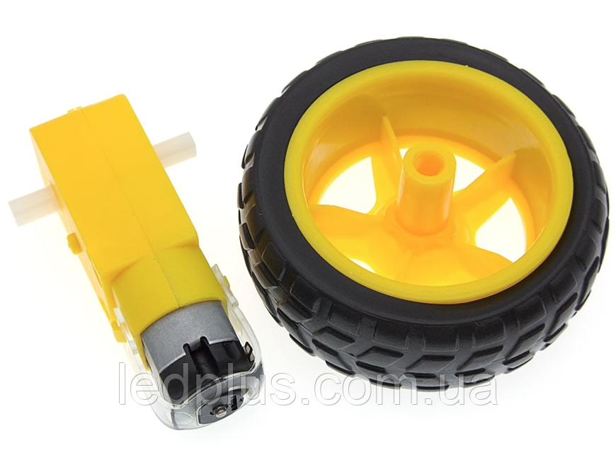 Мотор - редуктор + колесо для машинки робота