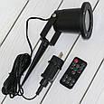 Уличный новогодний лазерный проектор с пультом (корпус цилиндрический, металл) (GK), фото 3