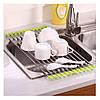Сушилка для посуды на мойку (раковину) Kitchen Drainboard (Салатовая) сушка посуды на раковине (NV)