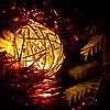 """Декоративная гирлянда для интерьера (Xmas Golden Ball WW-1, 2м, 10 LED, желтая) """"проволочные шарики"""" (NV)"""