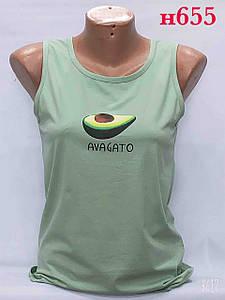 Красива жіноча майка з авокадо 42-46 (в кольорах)