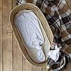 Безразмерная пеленка на молнии с шапочкой Каспер, Зайки
