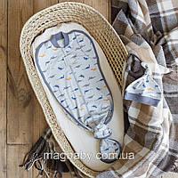 Безразмерная пеленка на молнии с шапочкой Каспер, Дино, фото 1