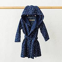 Муслиновый халат Soft, синий