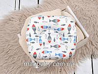 Подушка для новонароджених Класик, кольорові рибки