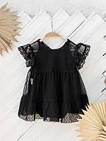 Фатиновое сукню з боді, Чорне, фото 1