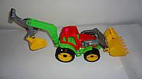 Большой  Трактор с двумя ковшами,Технок ,50*30*16 см.Детский Трактор з двома ковшами Технок.Детская машина Тра