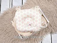 Подушка для новонароджених Мишкові вушка, квіти