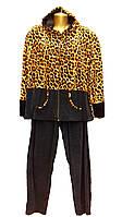 Женский велюровый костюм-тигровый
