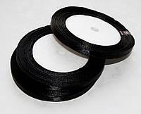Лента атласная Черная 0.7 см 23 м/бобина