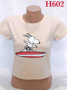 Молодіжна футболка укороченого крою 40-44 (в кольорах)