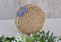 Пов'язка з плетеним синім бантиком