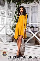 Платье свободное замш 256 Велика