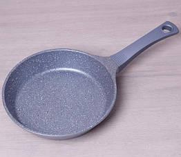 Сковорода Kamille Eternity 26 см литой алюминий с антипригарным покрытием Серая psgKM-4296, КОД: 1480785